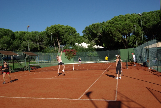 Cardio tennis on Euroclay tennis surface